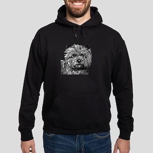 Cairn Terrier Toto Face Hoodie (dark)