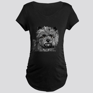 Cairn Terrier Toto Face Maternity Dark T-Shirt