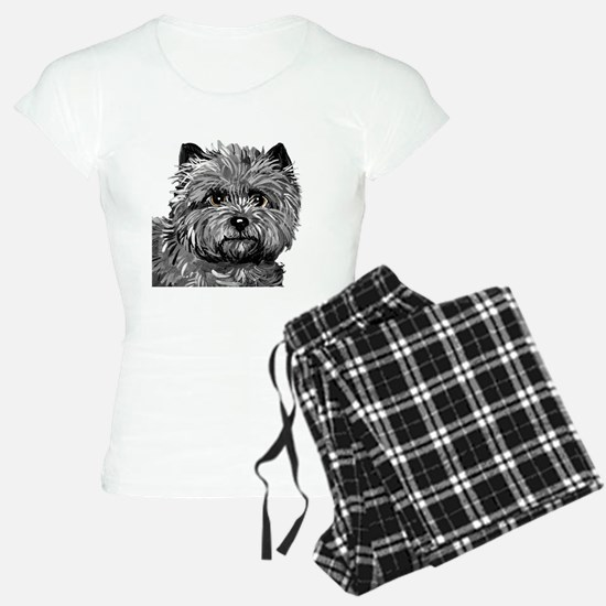 Cairn Terrier Toto Face Pajamas