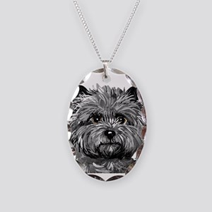 Cairn Terrier Toto Face Necklace Oval Charm