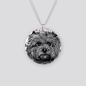 Cairn Terrier Toto Face Necklace Circle Charm