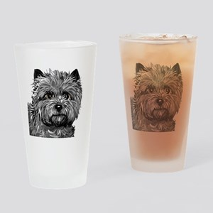 Cairn Terrier Toto Face Drinking Glass