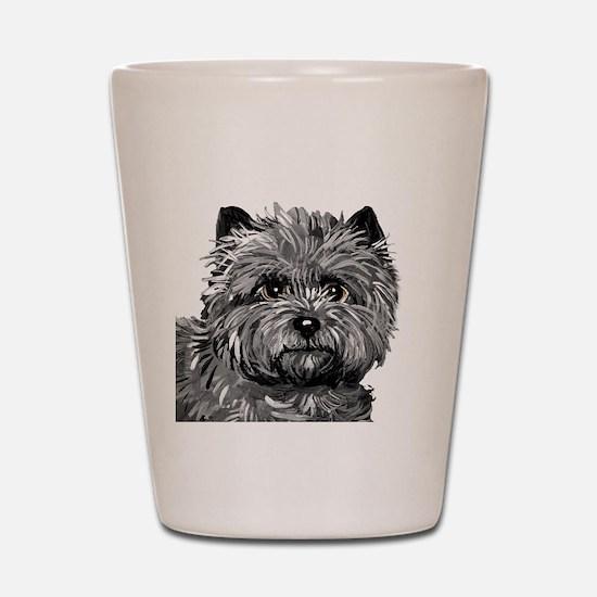 Cairn Terrier Toto Face Shot Glass
