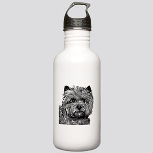Cairn Terrier Toto Face Stainless Water Bottle 1.0