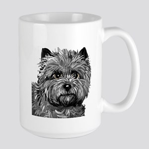 Cairn Terrier Toto Face Large Mug