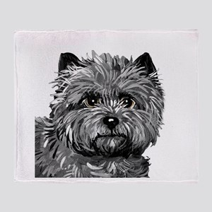 Cairn Terrier Toto Face Throw Blanket