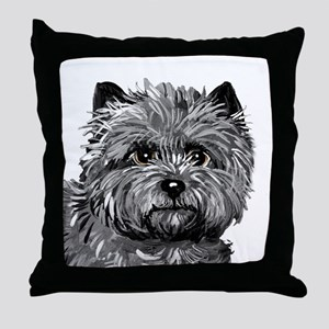 Cairn Terrier Toto Face Throw Pillow