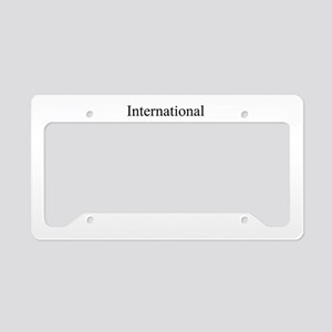 International Rhino Day License Plate Holder