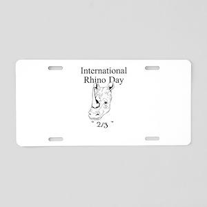 International Rhino Day Aluminum License Plate