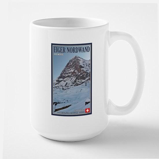 The Eiger and Train Large Mug