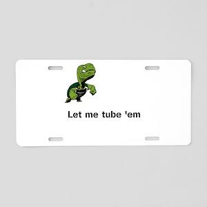 Turtle Tube Aluminum License Plate
