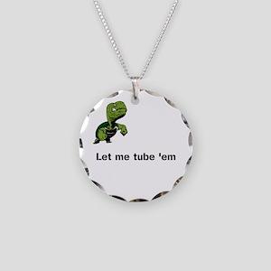 Turtle Tube Necklace Circle Charm