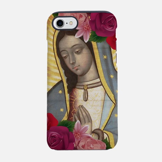 Virgin of Guadalupe with Roses iPhone 7 Tough Case