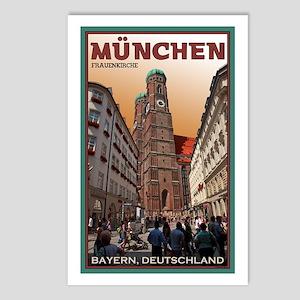 Munich Frauenkirche 2 Postcards (Package of 8)