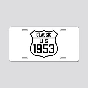 Classic US 1953 Aluminum License Plate