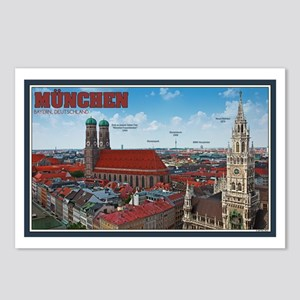 Munich Cityscape Postcards (Package of 8)