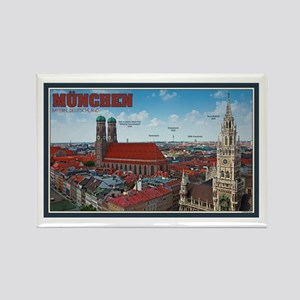 Munich Cityscape Rectangle Magnet