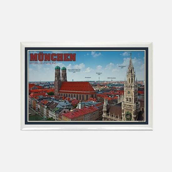 Munich Cityscape Rectangle Magnet
