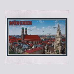 Munich Cityscape Throw Blanket