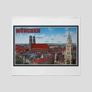 Munich Cityscape Throw Blanket