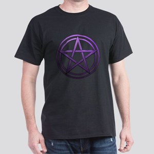 Purple Metal Pagan Pentacle Dark T-Shirt
