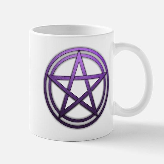 Purple Metal Pagan Pentacle Mug