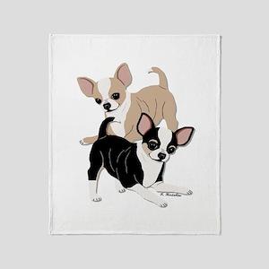 Chihuahua Smooth Coats at Play Throw Blanket