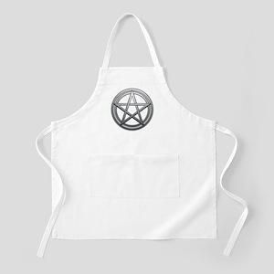 Silver Metal Pagan Pentacle Apron