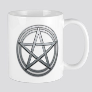 Silver Metal Pagan Pentacle Mug