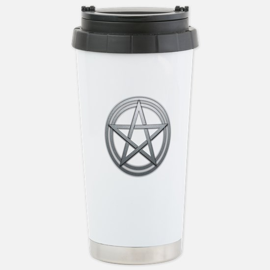 Silver Metal Pagan Pentacle Stainless Steel Travel