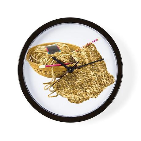 Hand Knit Chenille Yarn Wall Clock