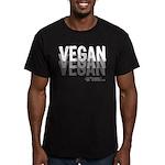 VEGAN 01, 3 tons - Men's Fitted T-Shirt (dark)