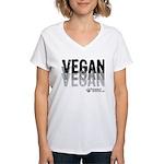 VEGAN 01, 3 tons - Women's V-Neck T-Shirt
