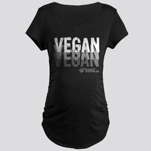 VEGAN 01, 3 tons - Maternity Dark T-Shirt