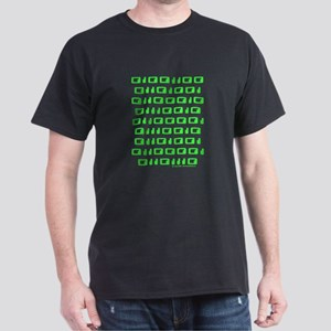 Librarian in Binary Code Black T-Shirt