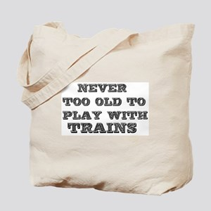 play with trains Tote Bag