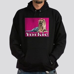 Urban Yorkie Pink Hoodie (dark)