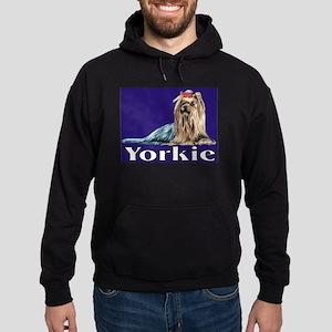 Urban Yorkie Blue Hoodie (dark)
