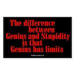 Genius and Stupidity Rectangle Sticker