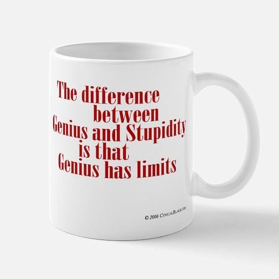 Genius and Stupidity Mug