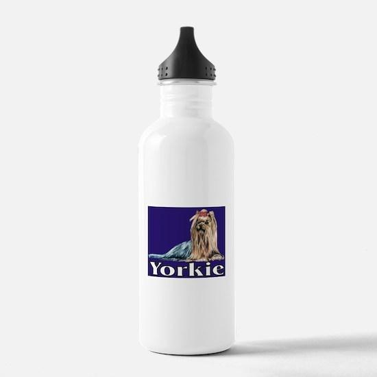 Urban Yorkie Blue Water Bottle