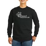 RESPECT ANIMAL LOGO - Long Sleeve Dark T-Shirt
