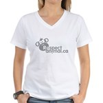 RESPECT ANIMAL LOGO - Women's V-Neck T-Shirt