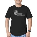 RESPECT ANIMAL LOGO - Men's Fitted T-Shirt (dark)