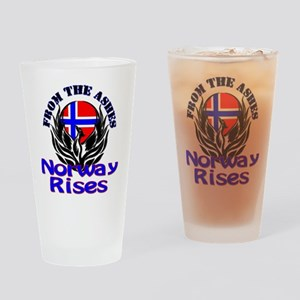 Norway Rises Drinking Glass