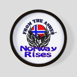 Norway Rises Wall Clock