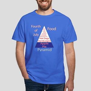 Fourth of July Food Pyramid Dark T-Shirt