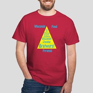 Wisconsin Food Pyramid Dark T-Shirt