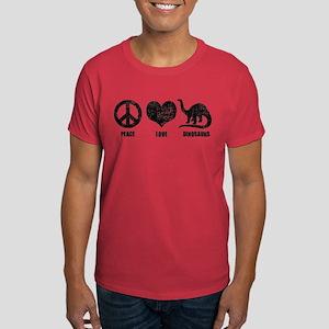 Peace Love Dinosaurs Dark T-Shirt