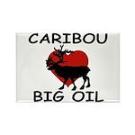 Caribou Love Big Oil Rectangle Magnet